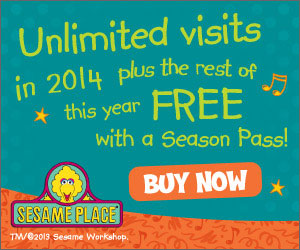 Don't miss out on any of the fun!  2014 Sesame Place Season Passes are on sale now. Purchase a Season Pass and get unlimited visits in 2014 plus the rest of 2013 free including A Very Furry Christmas!